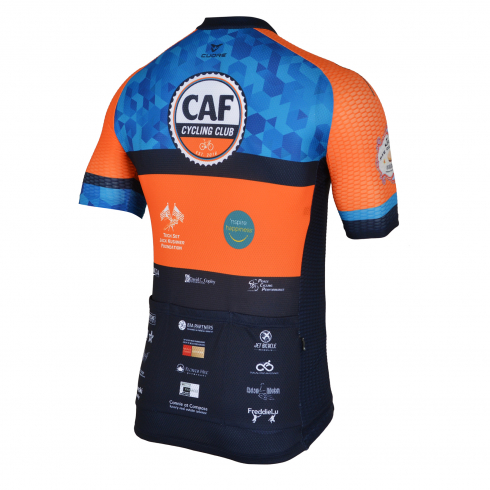 CAF CYCLING CLUB BRONZE MEN CYCLING S/SLEEVE SPORT VENT JERSEY - NORCAL