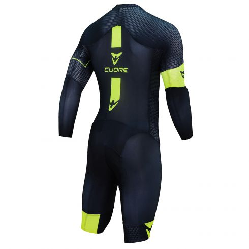 GOLD MEN CYCLING L/SLEEVE AERO SPEED SUIT