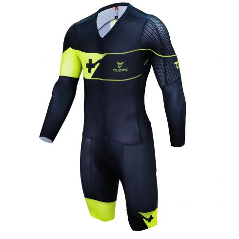 GOLD MEN CYCLING AERO L/SLEEVE SPEED SUIT