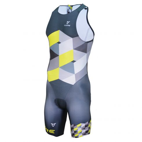 GOLD MEN TRIATHLON TRI SLEEVELESS ITU SUIT
