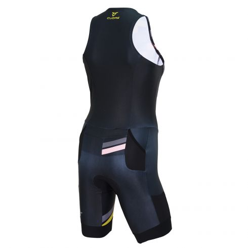 GOLD MEN TRIATHLON SLEEVELESS TWO IN ONE TRI SUIT