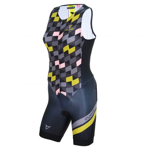 GOLD WOMEN TRIATHLON SLEEVELESS TWO IN ONE TRI SUIT