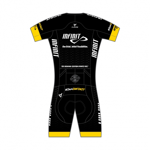 INFINIT NUTRITION GOLD MEN TRIATHLON S/SLEEVE TWO IN ONE TRI SUIT