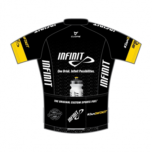 INFINIT NUTRITION SILVER MEN CYCLING S/SLEEVE RACE JERSEY BLACK