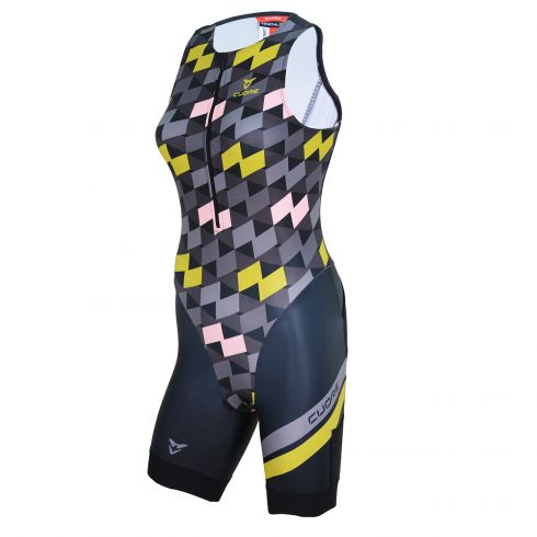 SILVER WOMEN TRIATHLON TRI SLEEVELESS SUIT