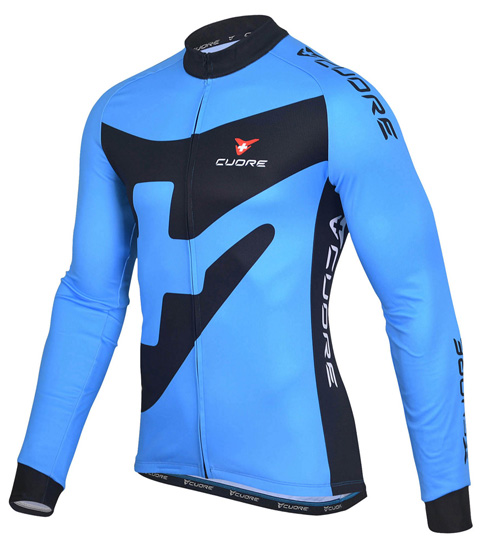 BRONZE MEN CYCLING L/SLEEVE THERMAL JERSEY