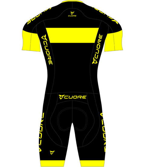 GOLD MEN CYCLING S/SLEEVE TWO IN ONE VENT SUIT
