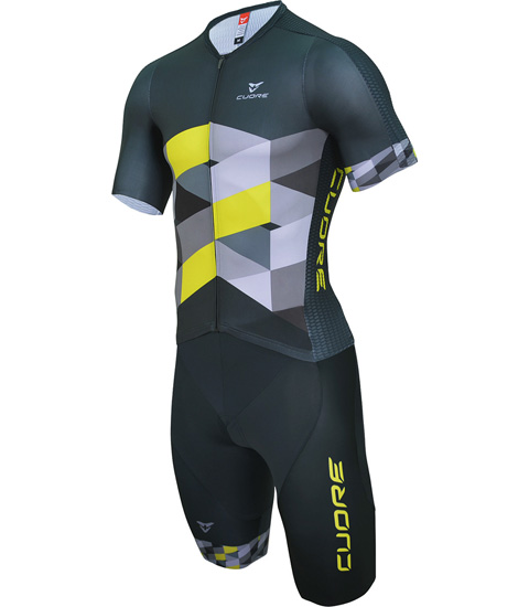 GOLD MEN TRIATHLON S/SLEEVE TWO IN ONE TRI SUIT