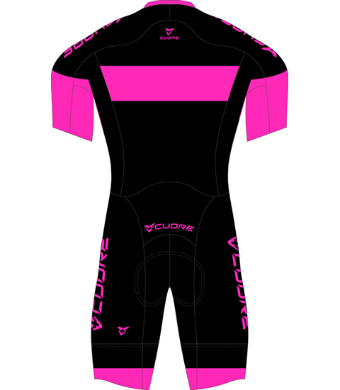 GOLD WOMEN CYCLING S/SLEEVE AERO SPEED SUIT