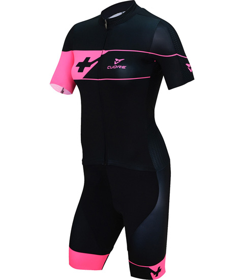 GOLD WOMEN CYCLING S/SLEEVE TWO IN ONE SUIT