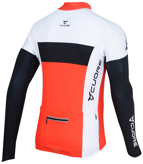 SILVER MEN CYCLING L/SLEEVE ACTIVE SHIELD JERSEY