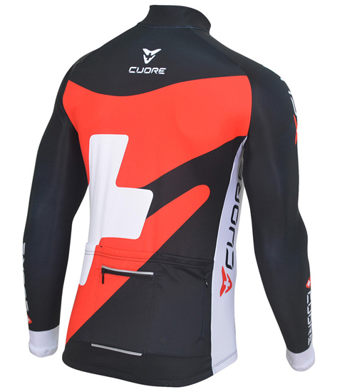 SILVER MEN CYCLING L/SLEEVE THERMAL JERSEY
