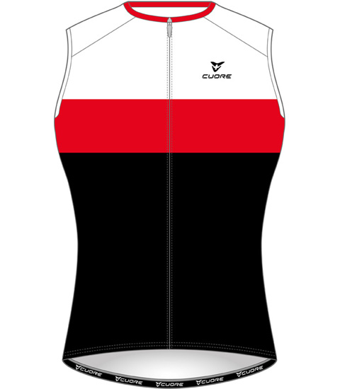 SILVER MEN CYCLING SLEEVELESS ORIGINAL VENT JERSEY