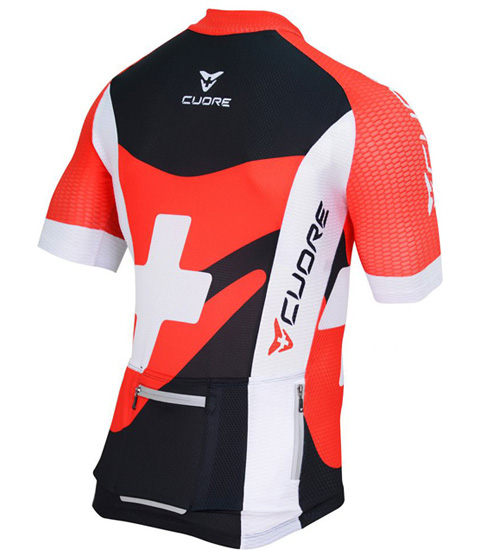 SILVER MEN CYCLING S/SLEEVE THERMAL RACE JERSEY