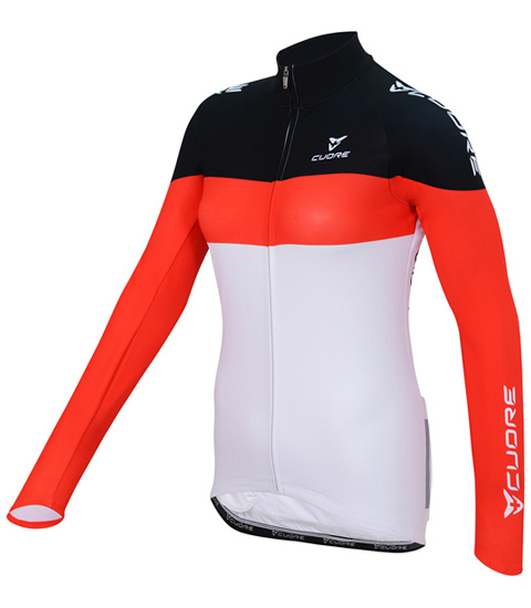 SILVER WOMEN CYCLING L/SLEEVE THERMAL JERSEY
