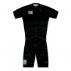 GOLD MEN TRIATHLON S/SLEEVE TWO IN ONE TRI CUSTOM SUIT BLACK