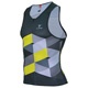 SILVER MEN TRIATHLON TRI RACE TOP