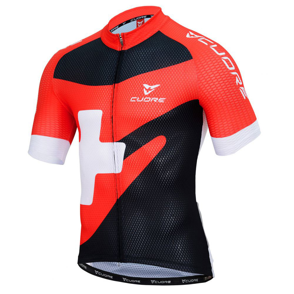SILVER MEN CYCLING S SLEEVE RACE JERSEY - CUORE of ... 49f03e5e1