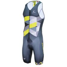 SILVER MEN TRIATHLON TRI SLEEVELESS SUIT